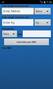 BMI Calculator- screenshot thumbnail