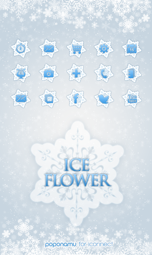 Ice Flower icon theme