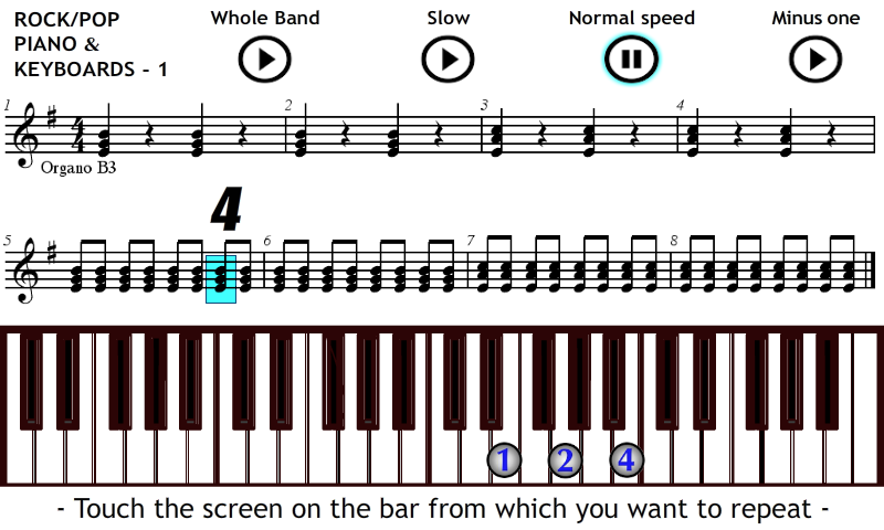 Play Piano & Keyboards Rock 1 - screenshot