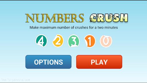 Numbers crush Game
