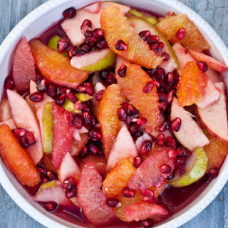Winter Fruit Salad with Pomegranates.