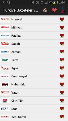 Türkiye Gazeteler ve Haberler