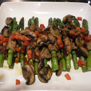 Filet Wrapped Asparagus with Char Siu Sauce.