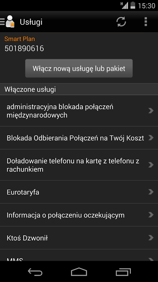 Mój Orange - screenshot