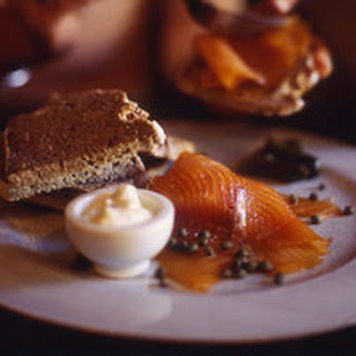 Brown Bread with Smoked Salmon.