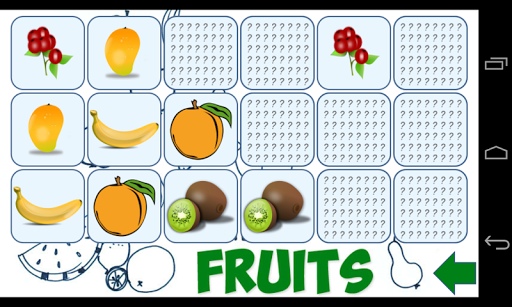 Memory Puzzle - Fruits