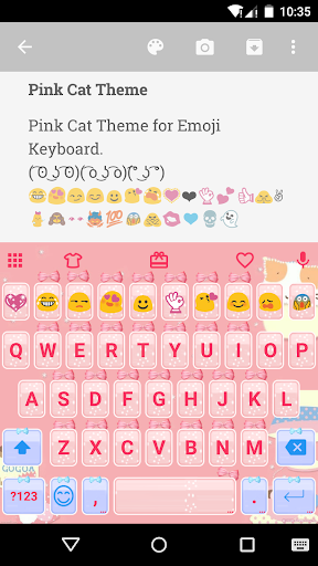 Pink Cat Emoji Keyboard