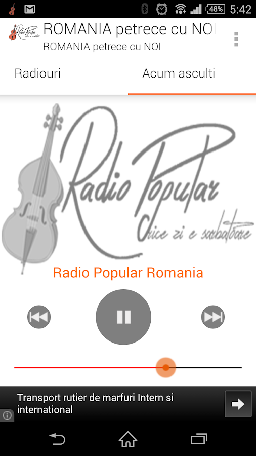 Radio Popular Romania- screenshot