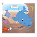 Golden Dolphin Coloring App icon