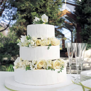 White Chocolate and Lemon Wedding Cake.