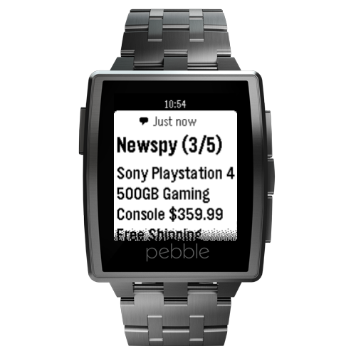 Newspy for Pebble- screenshot
