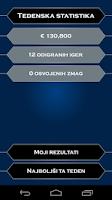 Screenshot of Milijonar Slovenija