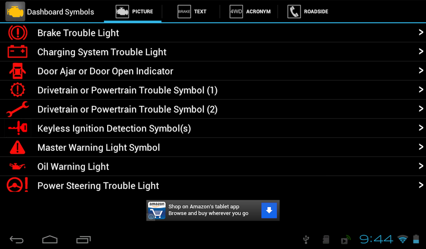 Vehicle Dashboard Symbols Google Play Store Revenue  Download - Car sign meanings