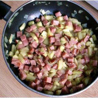 Ham and Fruit Stir-Fry.
