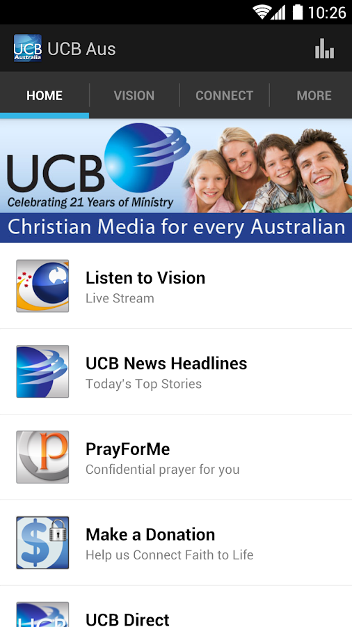 UCB & Vision Radio- screenshot