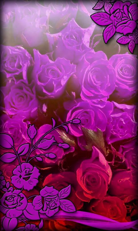Purple Flowers Live Wallpaper - screenshot