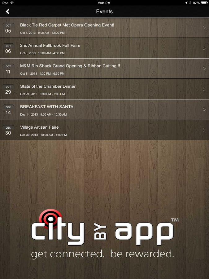 CityByApp® Fallbrook! - screenshot