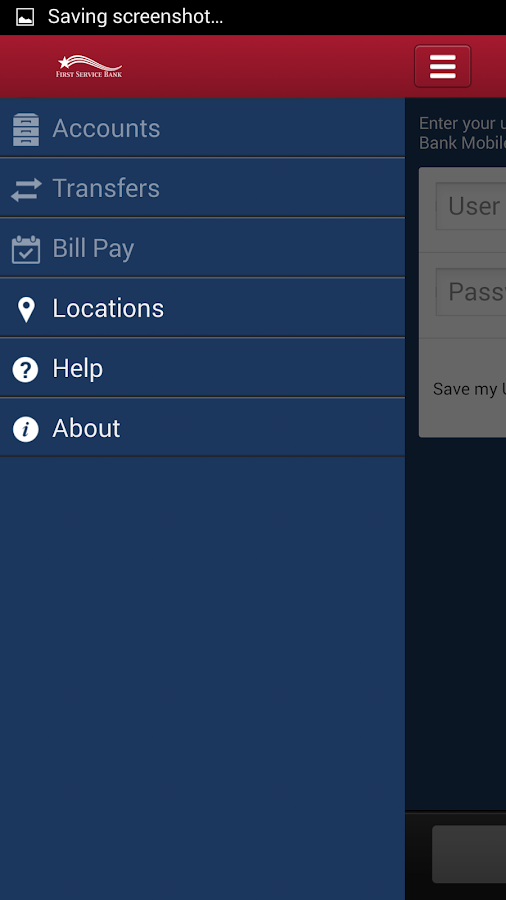 First Service Mobile Banking - screenshot