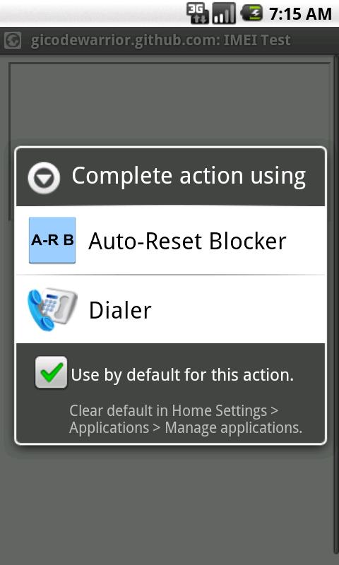Auto-Reset Blocker - screenshot