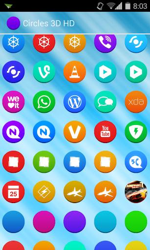 Circles HD Go Nova Apex Theme 1.0 screenshots 6