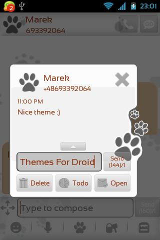 Cute Dog Theme for GO SMS Pro- screenshot