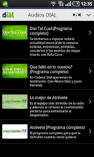 Cadena Dial para Android - screenshot thumbnail