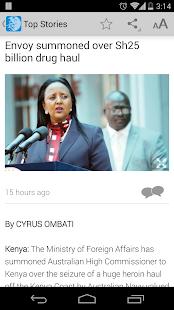 The Standard Kenya - News/ TV - náhled