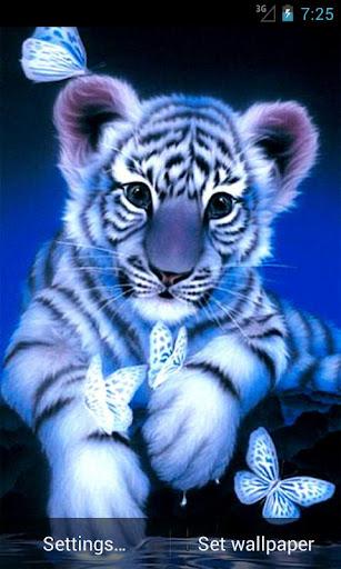Blue Tiger Live Wallpaper