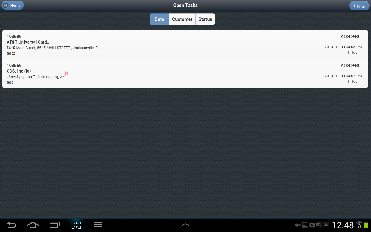 Oracle Mobile Field Service - screenshot