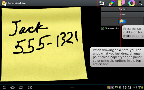 Sticky Note BotherMe Reminder - screenshot thumbnail