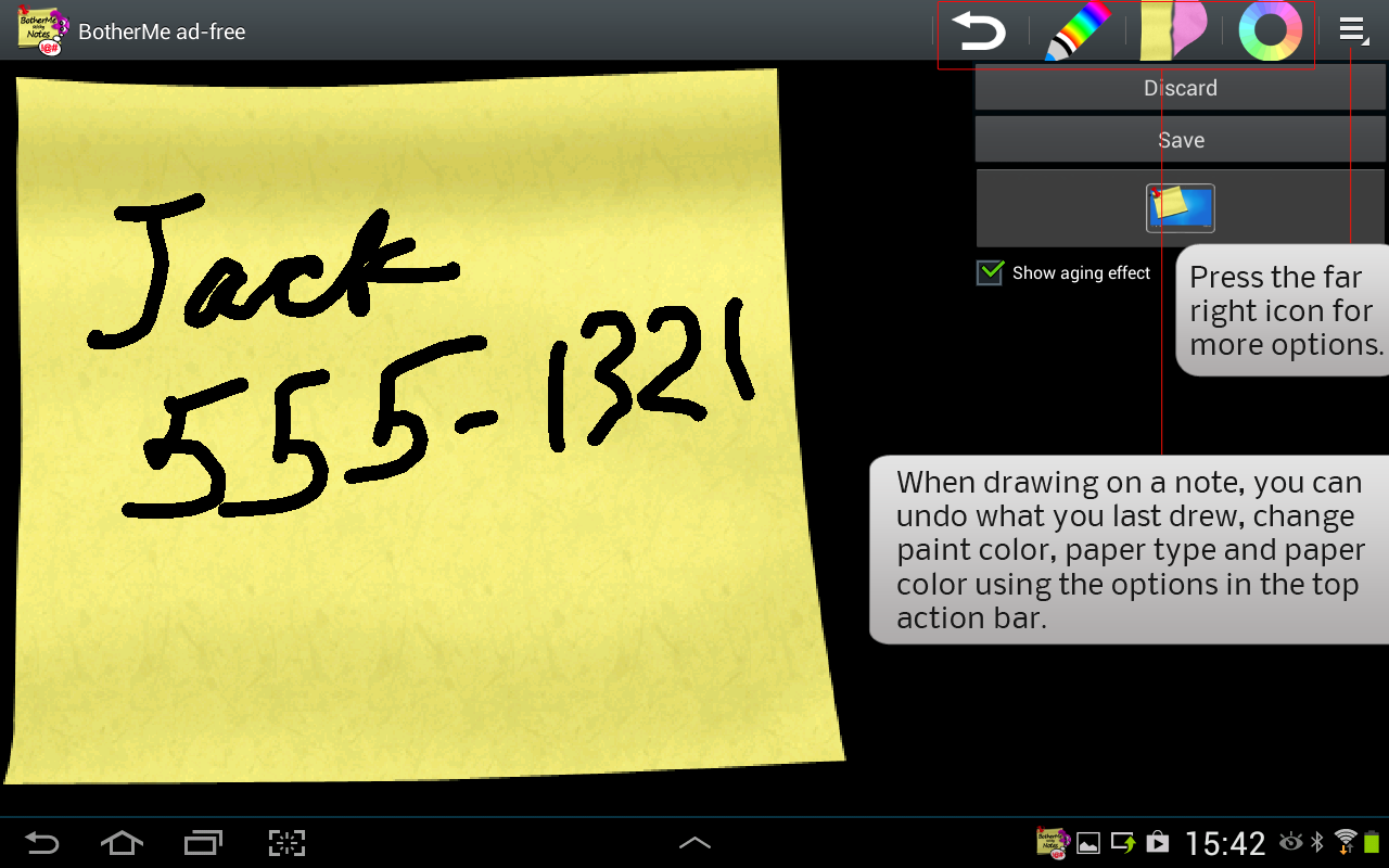 Sticky Note BotherMe Reminder - screenshot