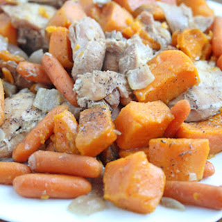 Slow Cooker Maple Chicken and Sweet Potatoes