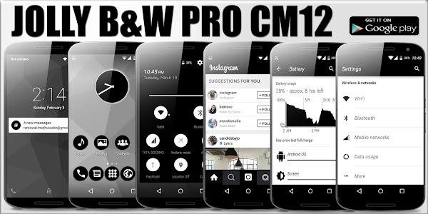 Jolly B&W Pro CM12 Theme v1.6