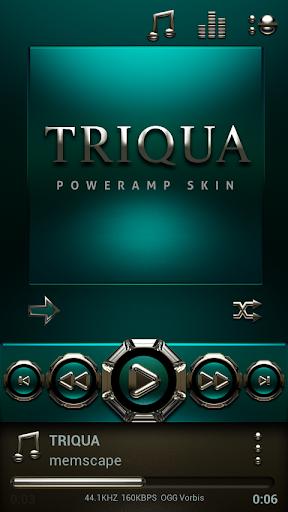 Poweramp skin Triqua