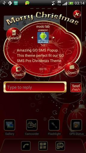 【免費個人化App】Christmas Popup Go sms theme-APP點子