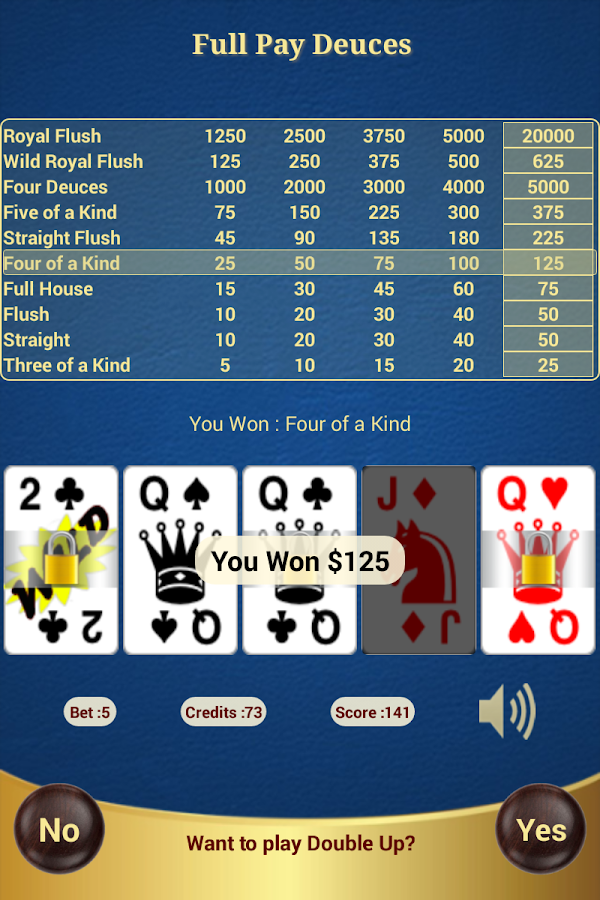 Full Pay Deuces Poker- screenshot