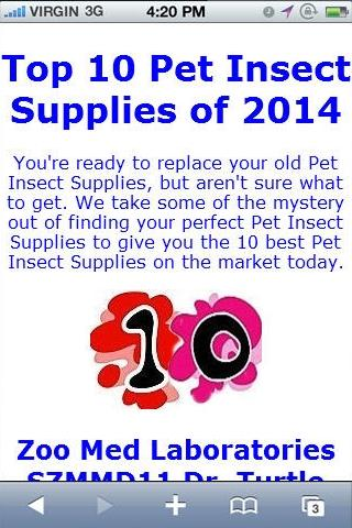 Insect Supply Reviews