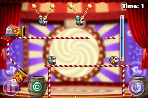 Puzzle Game - Cut the clowns 2- screenshot