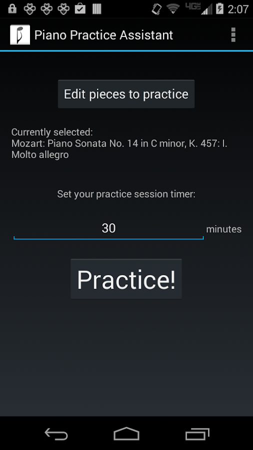 Piano Practice Assistant- screenshot