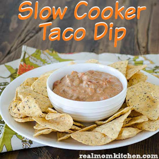 Slow Cooker Taco Dip.