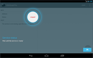 Screenshot of SSHDroid