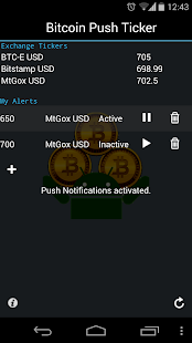 Bitcoin Push Ticker 3.0 - screenshot thumbnail