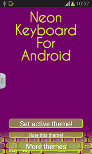 Neon Keyboard For Android - screenshot thumbnail