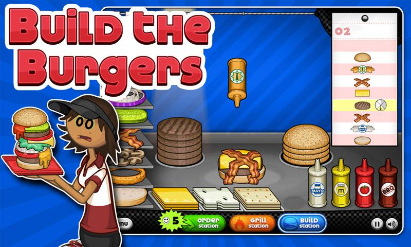 Papa's Burgeria- screenshot