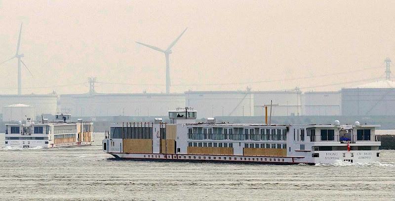 Viking Heimdal sails near Amsterdam, Netherlands.