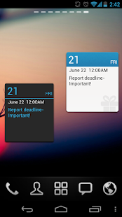 GO Calendar Widget - screenshot thumbnail