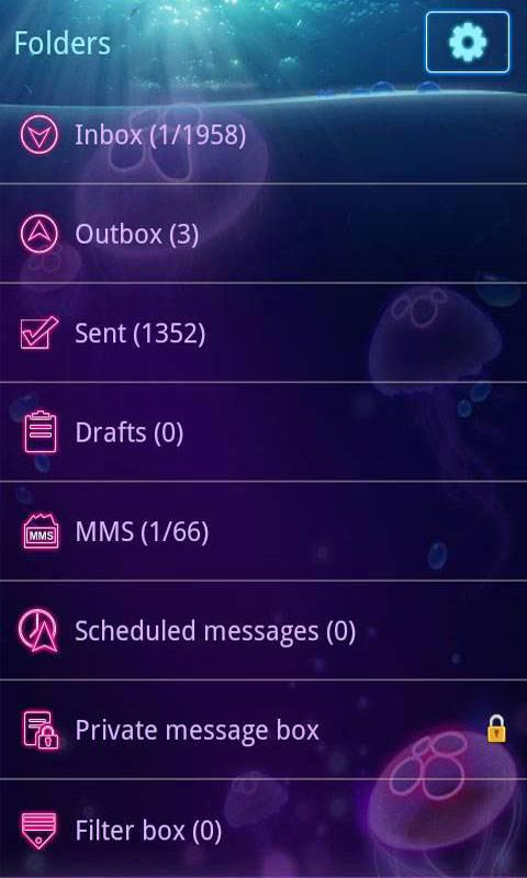 GO SMS Pro Jellyfish ThemeEX - screenshot