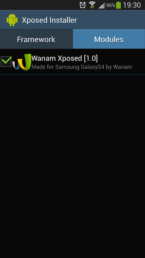Wanam Xposed - screenshot