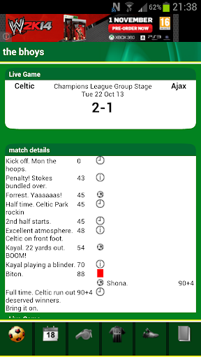 Celtic Match Alert Lite