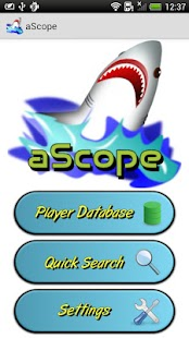 aScope Poker Tournament Lookup - screenshot thumbnail